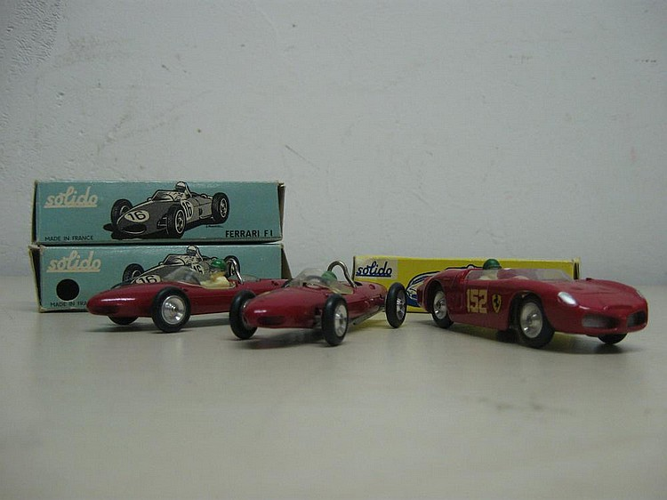 SOLIDO Ferrari F1 Ref. : 122 x 2.    SOLIDO 215 Ferrari Ref. : 129.
