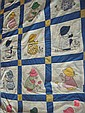 196-Bonnet Girl quilt top machine/hand