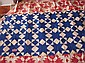 191-Quilt top blue & white stars