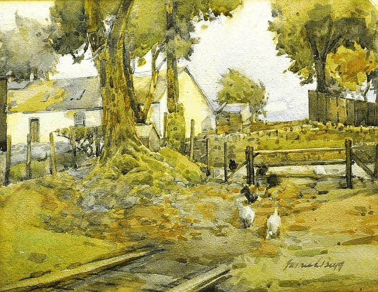 Samuel Begg (fl. 1886-1891) 'Chickens in the Lane'