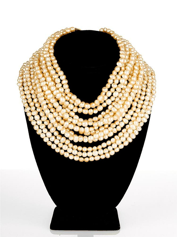 Karl Lagerfield - Twelve Strand Pearl Necklace
