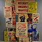 Group of WWI &II Era Lithograph Posters, Broadsides, and Educational Posters, several Red Cross, war effort campaigns for: War Savings