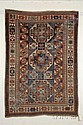 Kazak Rug, Southwest Caucasus, last quarter 19th century, (brown oxidation), 7 ft. x 5 ft.