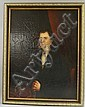 Anglo/American School, 19th Century Portrait of a Gentleman. Unsigned. Oil on canvas mounted to panel, 34 x 26 in., framed. Conditio...