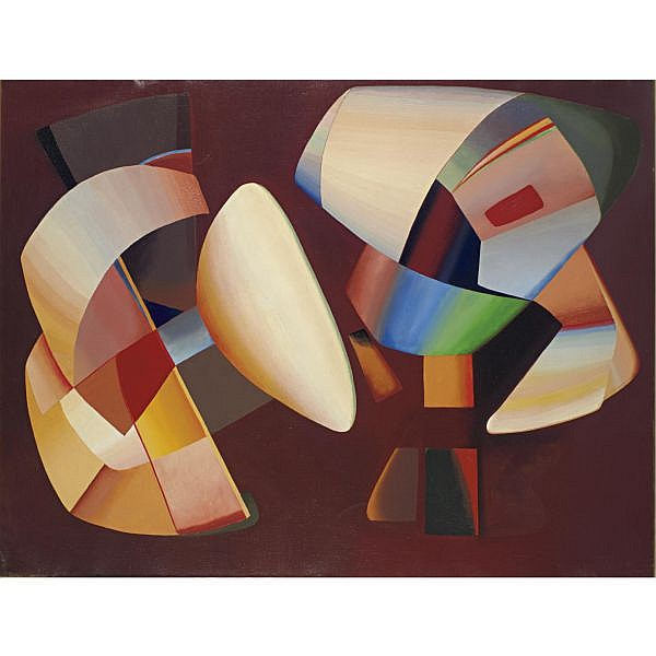 John Ferren 1905-1970 , Untitled oil on canvas