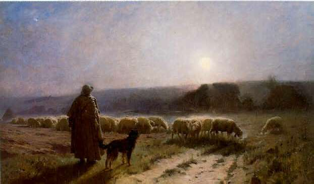 CHARLES SPRAGUE PEARCE (1851-1914) EVENING (AUVERS-SUR-OISE)