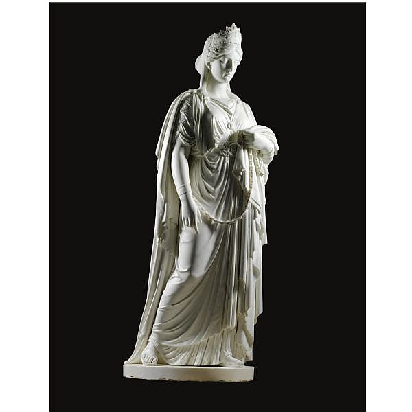 Harriet Goodhue Hosmer American, 1830-1908 , Zenobia in chains marble
