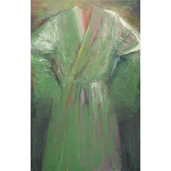 Jim Dine , b. 1935 Miss Pussy's Green Picture oil on canvas