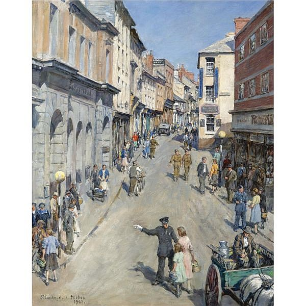Stanhope Alexander Forbes, R.A. 1857-1947 , causewayhead, penzance, 1943 oil on canvas