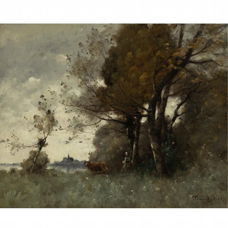 PAUL-DÉSIRÉ TROUILLEBERT FRENCH, 1829-1900 AUTUMN IN CANDES