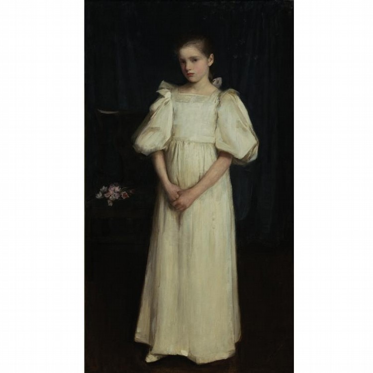 JOHN WILLIAM WATERHOUSE, R.A., R.I.   BRITISH, 1849-1917 PORTRAIT OF PHYLLIS, YOUNGER DAUGHTER OF
