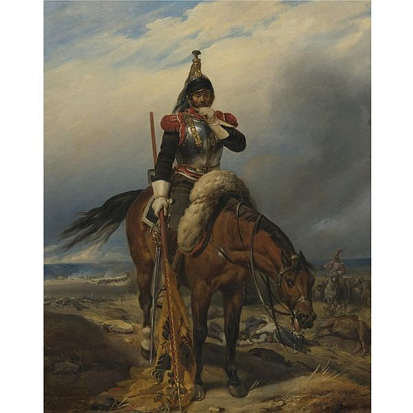 - Paul Delaroche , French 1797-1856 The Field of Battle oil on canvas