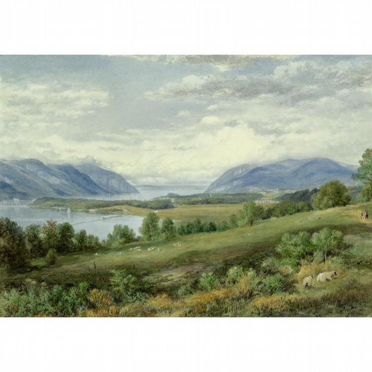 PROPERTY FROM THE COLLECTION OF READER'S DIGEST JOHN WILLIAM HILL 1812-1879 THE HUDSON RIVER FROM