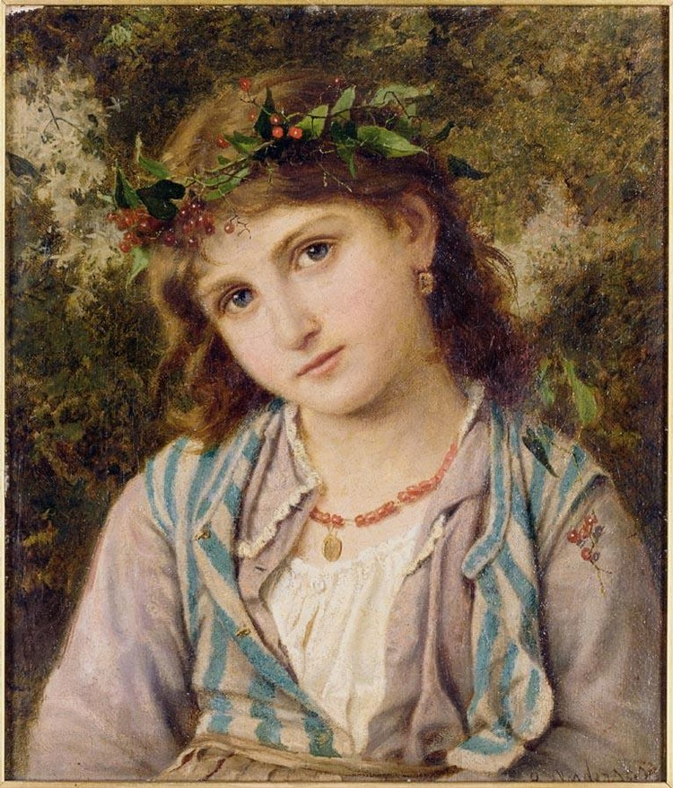 SOPHIE ANDERSON 1823-1903 AN AUTUMN PRINCESS