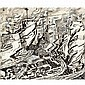 Edward Wadsworth, A.R.A. , 1889-1949 Industrial Landscape: Tarmac Production pen and ink and watercolour, Edward Wadsworth, Click for value