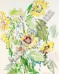 f - OSKAR KOKOSCHKA 1886-1980 SONNENBLUMEN (SUNFLOWERS), Oskar Kokoschka, Click for value