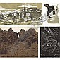 Anna Petrovna Ostroumova-Lebedeva, 1871-1955 , A group of four woodcut prints on wove paper comprising: Bobby, Spring.Dolnika ( 1900 ), A View of Tivoli  and Angel (both 1914)