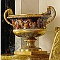 A VIENNA ORMOLU-MOUNTED LARGE URN THE PORCELAIN 1826, THE DECORATION POSSIBLY SLIGHTLY LATER
