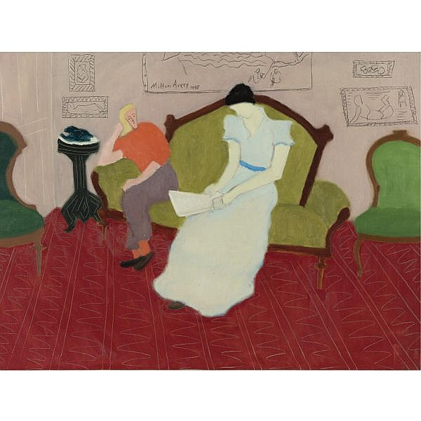 u - Milton Avery 1885-1965 , The Reader and the Listener oil on canvas