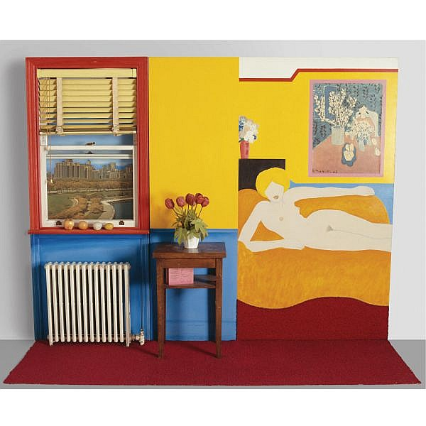 - Tom Wesselmann , 1931-2004 Great American Nude No. 48 oil and collage on canvas, acrylic and collage on board, enameled radiator and assemblage (including window illumination)