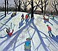 ANDREW MACARA, B.1944 SLEDGING 91 x 101.5cm.; 36 x 40in. signed and dated 2003 oil on canvas, Andrew Macara, Click for value