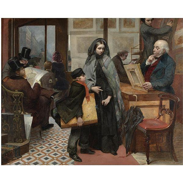Emily Mary Osborn , 1828-1925 nameless and friendless, the rich man's wealth is his strong city oil on canvas