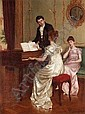 CHARLES HAIGH-WOOD, 1856-1927 THE SONG 54 x 41cm.; 21.25 x 16in. signed and dated 91; signed and titled on the reverse oil on canvas, Charles Haigh-Wood, Click for value