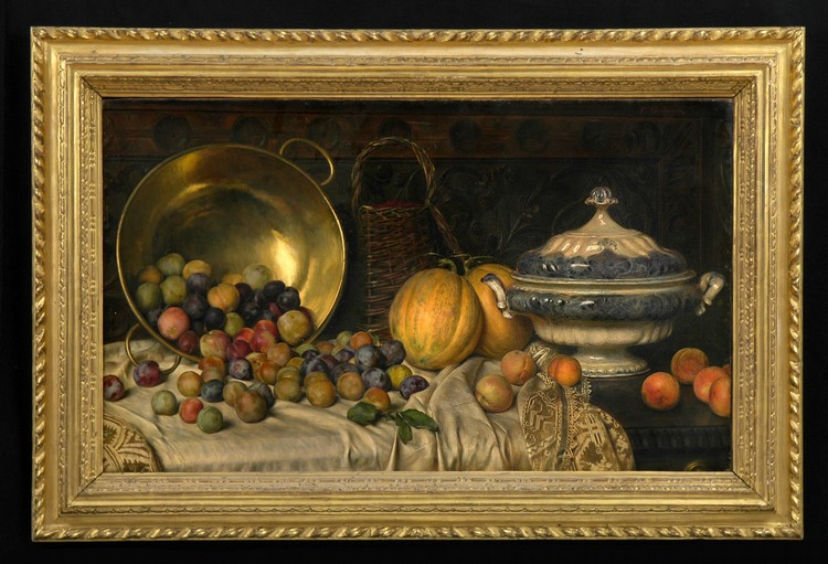 FREDERIC SOULACROIX (1858-1933): STILL LIFE WITH FRUIT