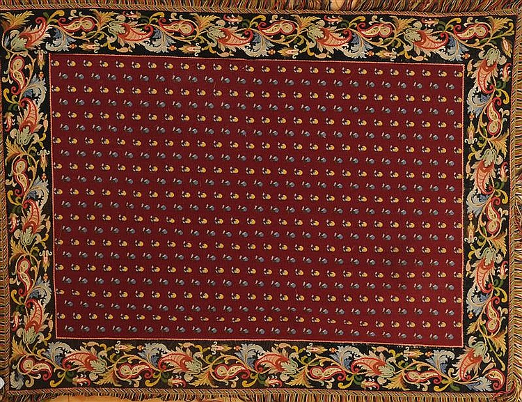 Needlework Carpet with Fringe