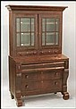AMERICAN EMPIRE SECRETARY BOOKCASE.