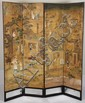 Chinese Four Panel Painted Screen, 19th century