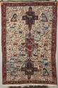 Embroidered Oriental Scatter Rug