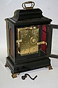 An English ebonized table clock, late 17th Century and later,