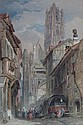 JOHN SKINNER PROUT (BRITISH 1806-1876) RATISBON, BAVARIA 50cm x 33cm (19.75in x 13in)