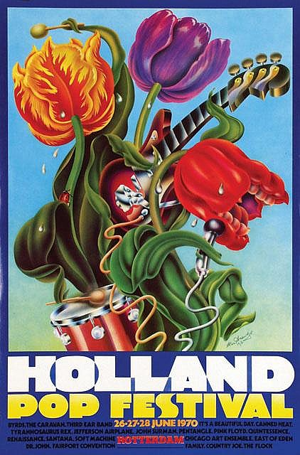 Poster by Alan Aldridge - Holland Pop Festival