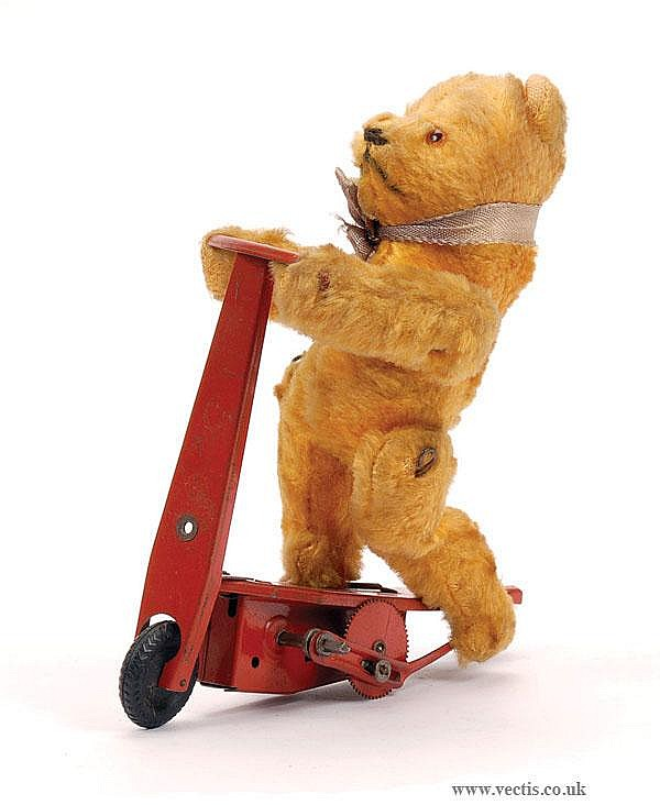 Gebruder Fewo Clockwork Teddy on Scooter