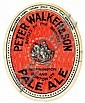 BEER LABELS, Peter Walker & Son (Warrington and