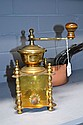 Impressive French brass coffee grinder