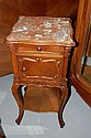 French Louis XV marble topped nightstand