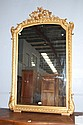Antique French gilt surround mirror, 171 cm H x