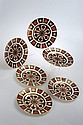 A set of six Royal Crown Derby Imari side plates,