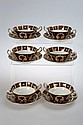 A set of six Royal Crown Derby Imari soup cups and