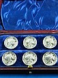 A set of six Edwardian silver buttons Sheffield
