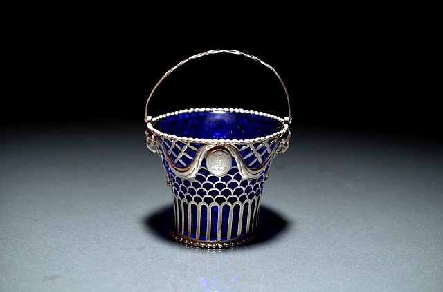 GEORGIAN SILVER SUGAR BASKET