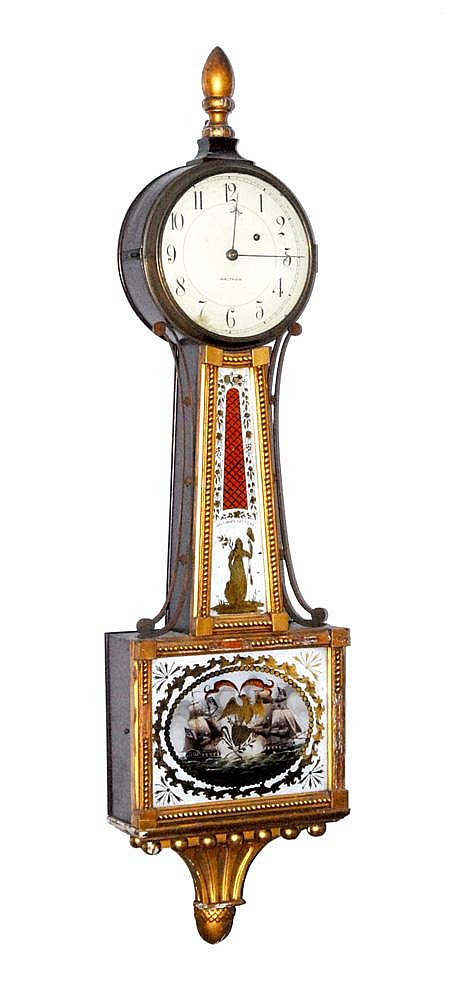 WALTHAM BANJO CLOCK