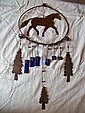 Western, Metal Horse Chimes Western theme, metal  horse wind chimes 24