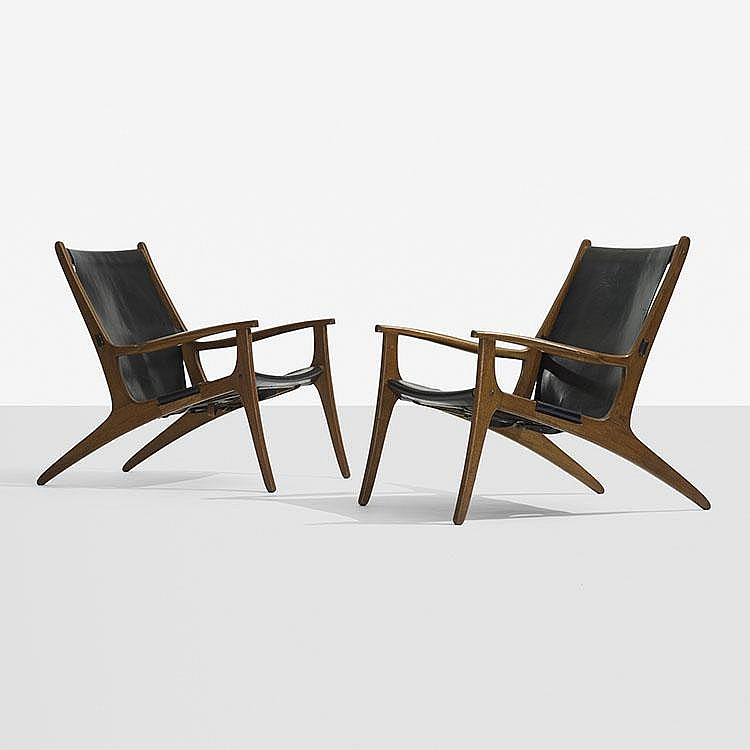 Uno and sten Kristiansson lounge chairs, pair